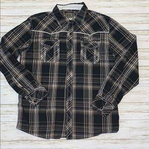 BKE Western Shirts Men Size XL